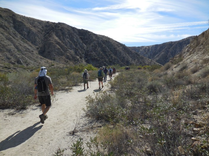 On the trail in  Big Morongo Canyon